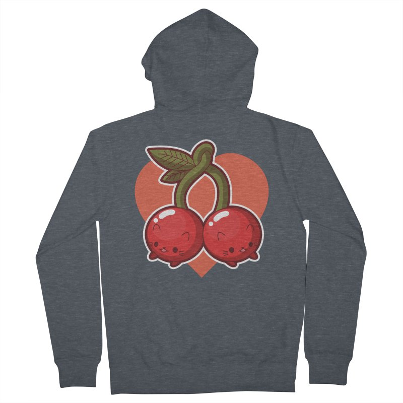 Cherries Women's Zip-Up Hoody by Kappacino Creations