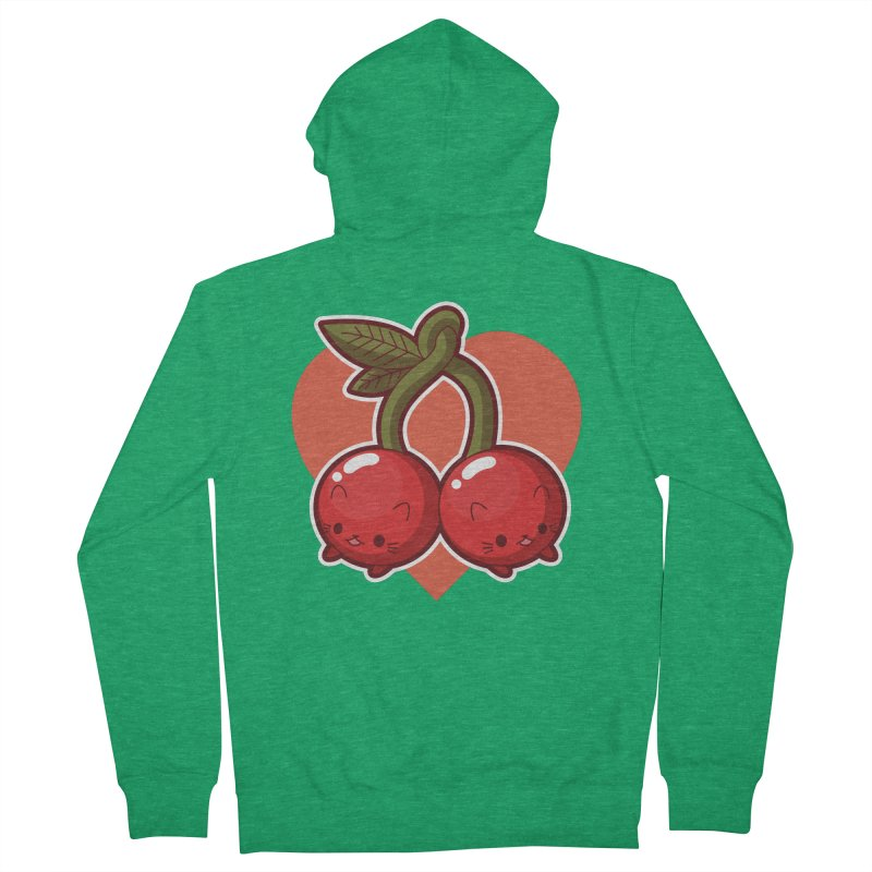 Cherries Men's Zip-Up Hoody by Kappacino Creations
