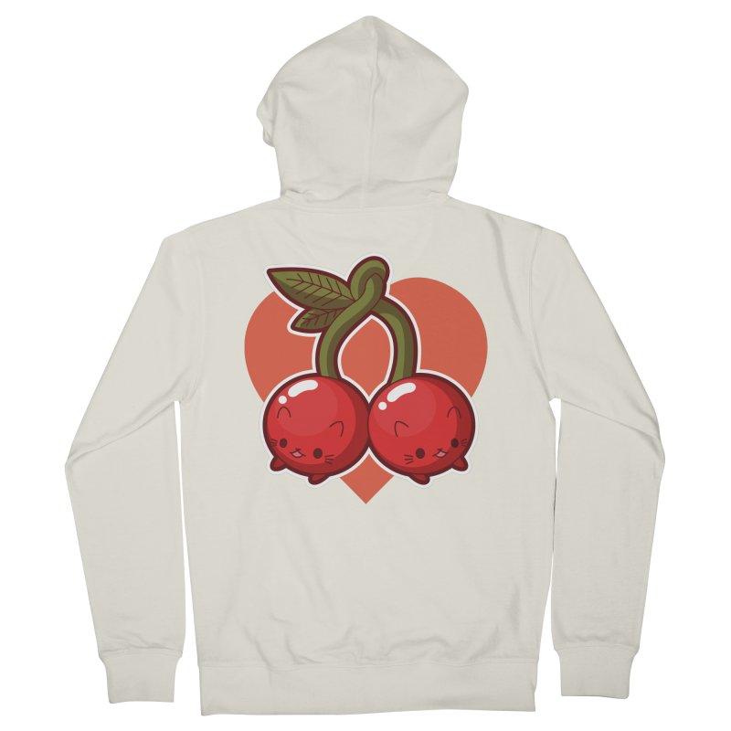 Cherries Men's Zip-Up Hoody by Kappacino Creations