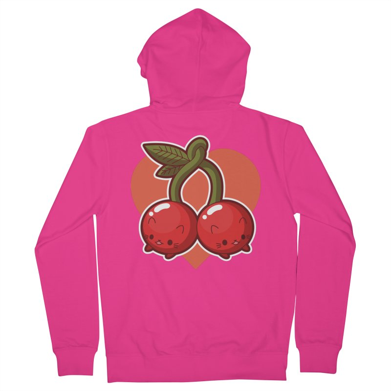 Cherries Men's French Terry Zip-Up Hoody by Kappacino Creations