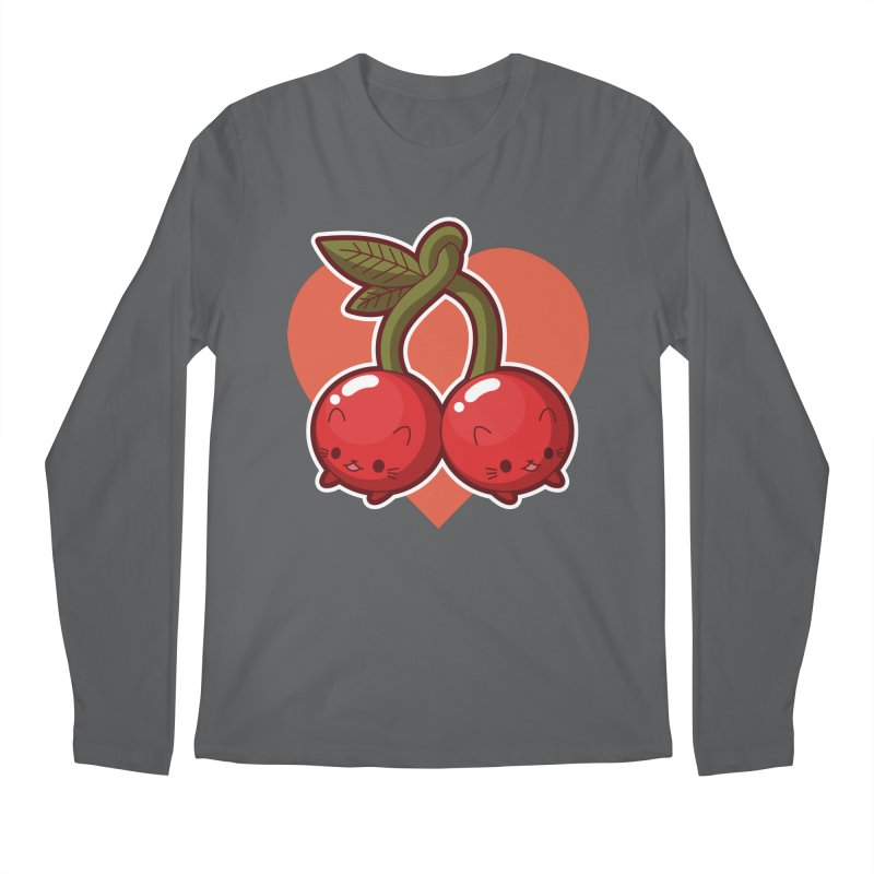 Cherries Men's Longsleeve T-Shirt by Kappacino Creations