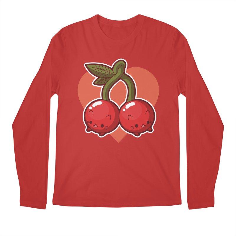 Cherries Men's Regular Longsleeve T-Shirt by Kappacino Creations