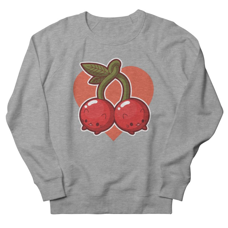 Cherries Women's French Terry Sweatshirt by Kappacino Creations