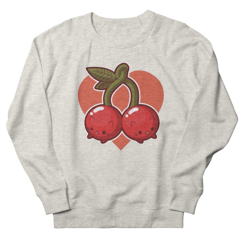 Cherries Men's French Terry Sweatshirt by Kappacino Creations