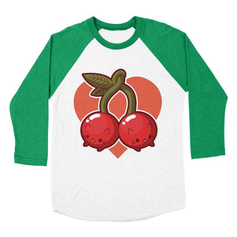 Cherries Women's Baseball Triblend Longsleeve T-Shirt by Kappacino Creations