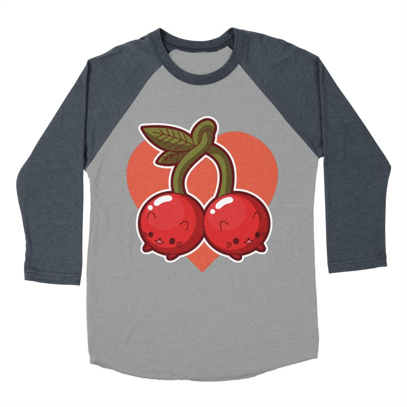 Cherries Women's Baseball Triblend Longsleeve T-Shirt by Kappacino Creations