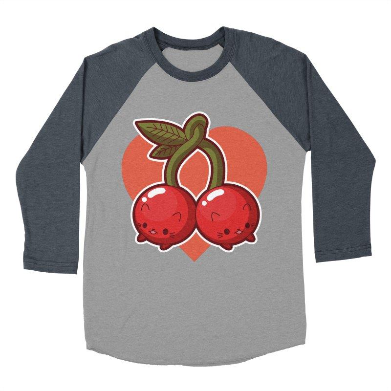 Cherries Men's Baseball Triblend T-Shirt by Kappacino Creations