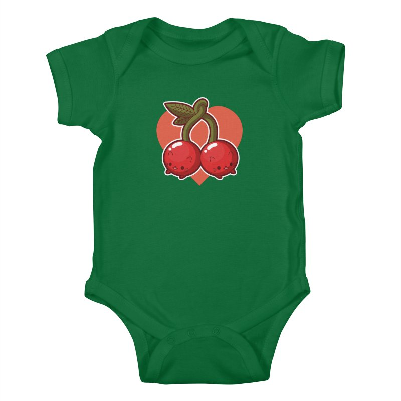 Cherries Kids Baby Bodysuit by Kappacino Creations