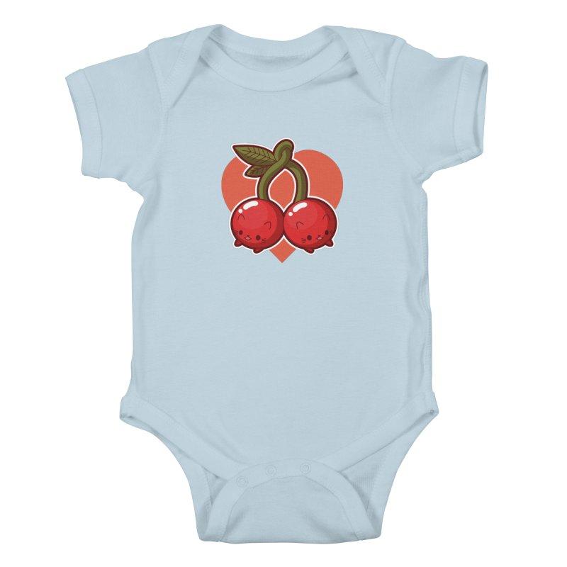 Cherries Kids Baby Bodysuit by Kappacino Creations