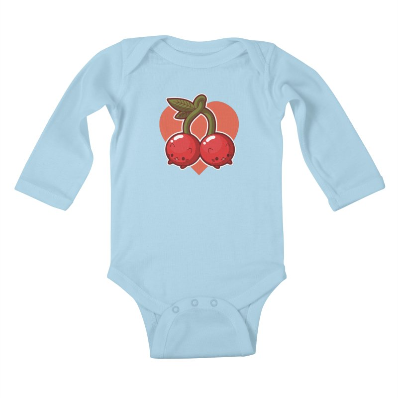 Cherries Kids Baby Longsleeve Bodysuit by Kappacino Creations