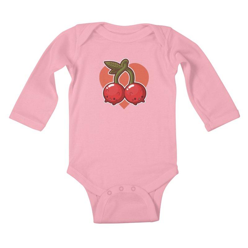 Cherries Kids Baby Longsleeve Bodysuit by Kappacino Creations