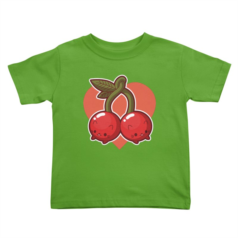 Cherries Kids Toddler T-Shirt by Kappacino Creations