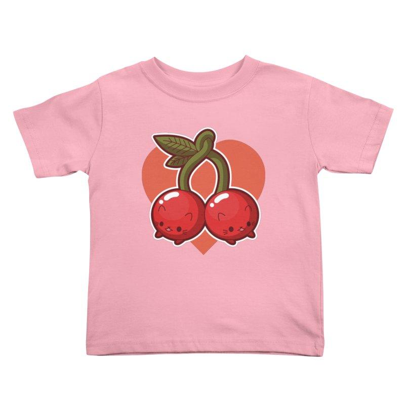 Cherries Kids Toddler T-Shirt by Kappacino Creations