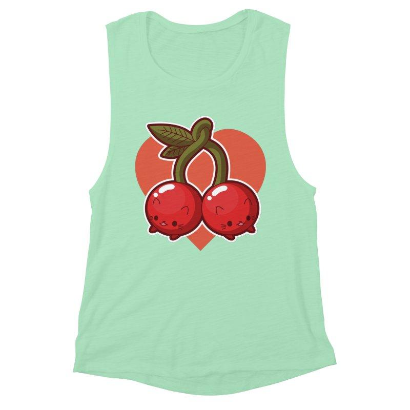 Cherries Women's Muscle Tank by Kappacino Creations