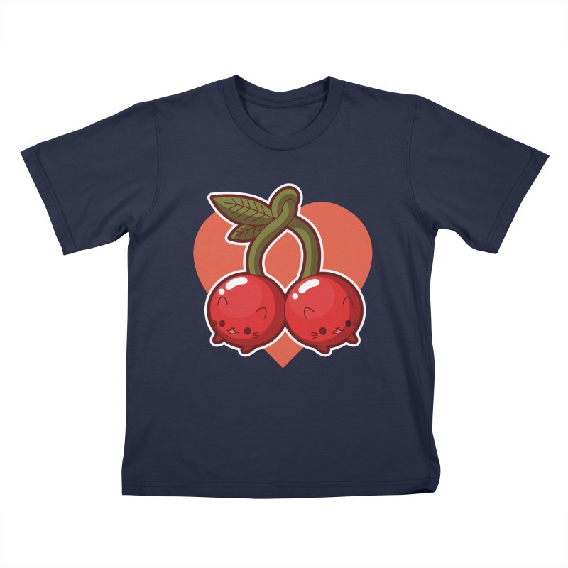 Cherries Kids T-Shirt by Kappacino Creations
