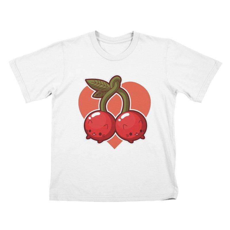 Cherries Kids T-Shirt by Kappacino Creations
