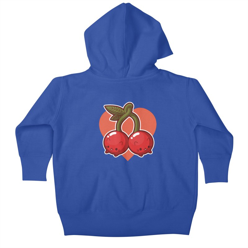 Cherries Kids Baby Zip-Up Hoody by Kappacino Creations