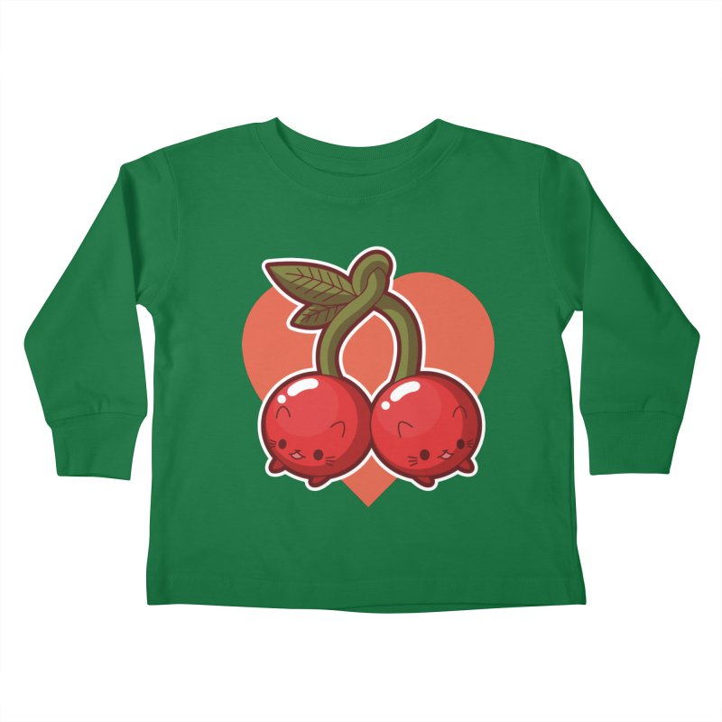 Cherries Kids Toddler Longsleeve T-Shirt by Kappacino Creations