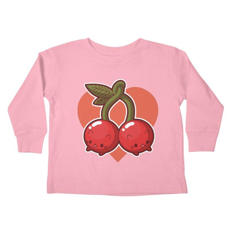 Cherries Kids Toddler Longsleeve T-Shirt by Kappacino Creations
