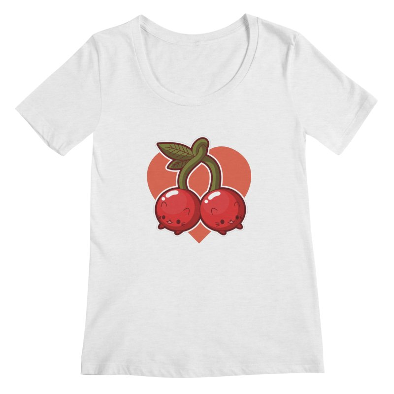 Cherries Women's Scoopneck by Kappacino Creations