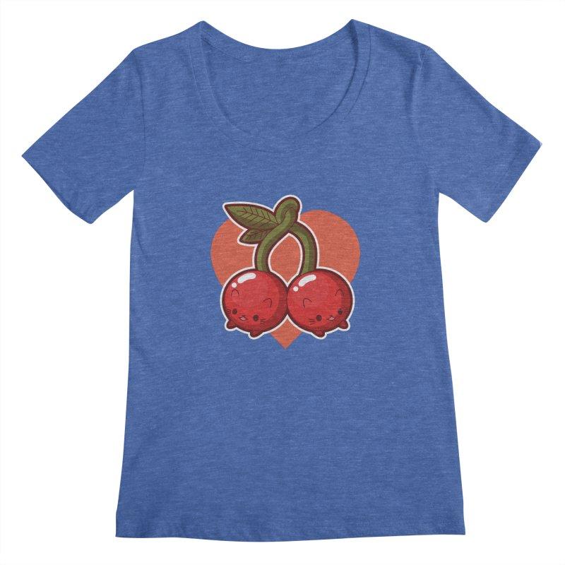 Cherries Women's Regular Scoop Neck by Kappacino Creations