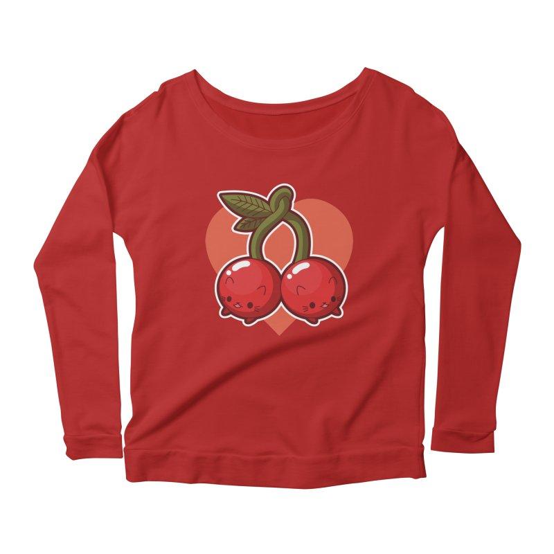 Cherries Women's Longsleeve Scoopneck  by Kappacino Creations