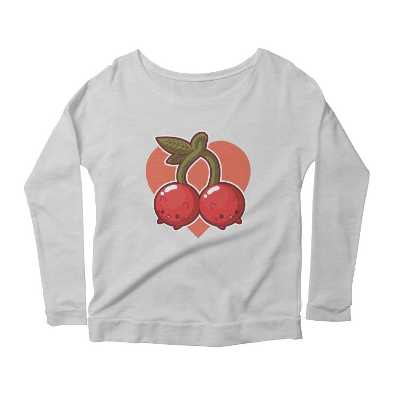 Cherries Women's Scoop Neck Longsleeve T-Shirt by Kappacino Creations