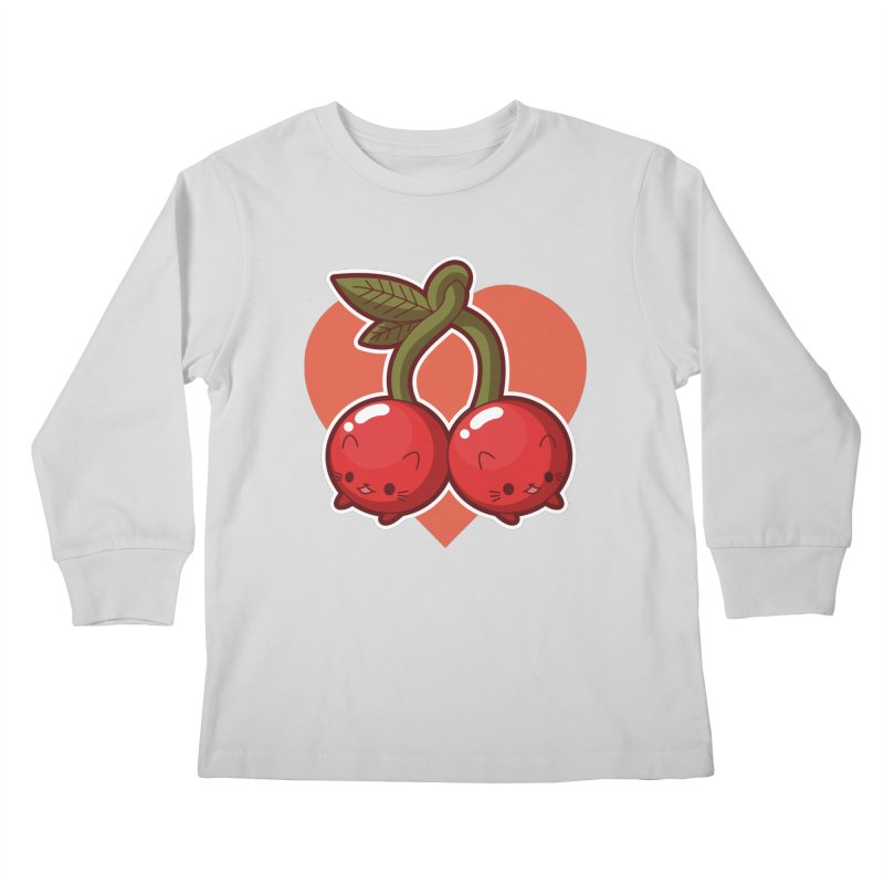 Cherries Kids Longsleeve T-Shirt by Kappacino Creations