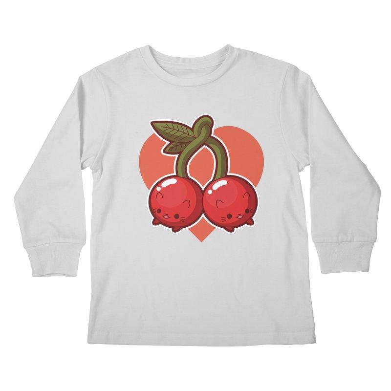 Cherries Kids Longsleeve T-Shirt by Kappacino Creations