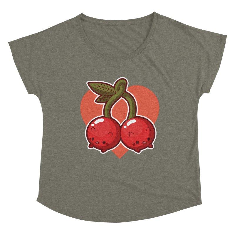 Cherries Women's Scoop Neck by Kappacino Creations