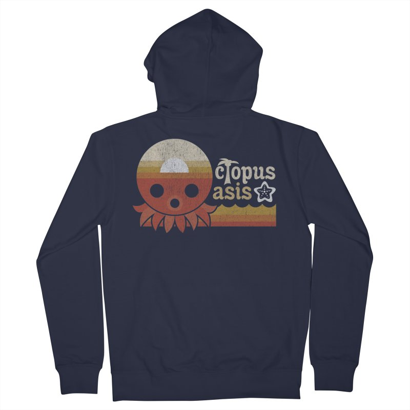 Octopus Oasis - Sunset Women's Zip-Up Hoody by Kappacino Creations