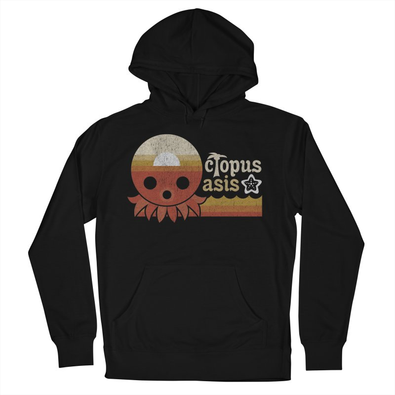 Octopus Oasis - Sunset Women's French Terry Pullover Hoody by Kappacino Creations