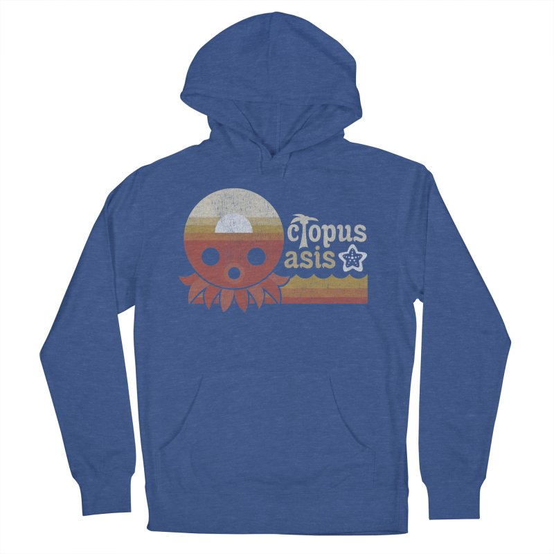 Octopus Oasis - Sunset Men's French Terry Pullover Hoody by Kappacino Creations