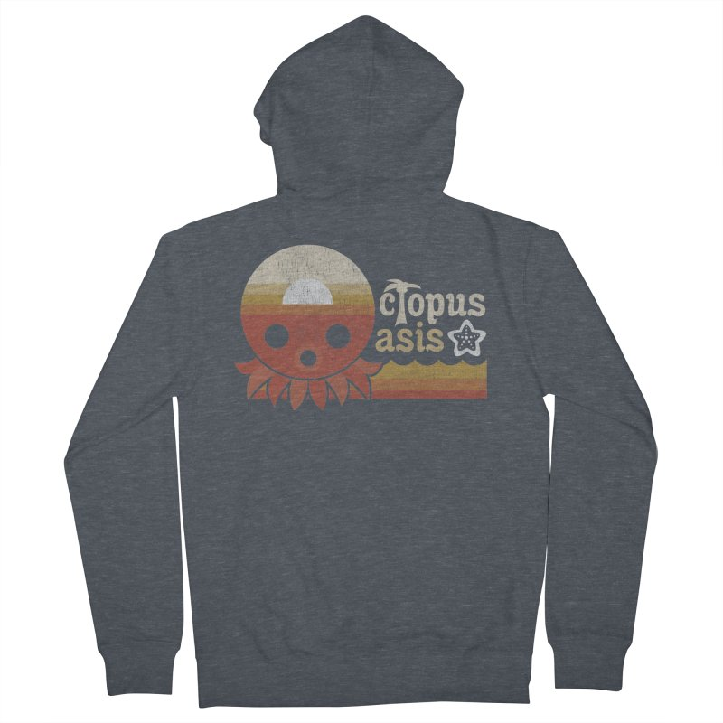 Octopus Oasis - Sunset Men's French Terry Zip-Up Hoody by Kappacino Creations