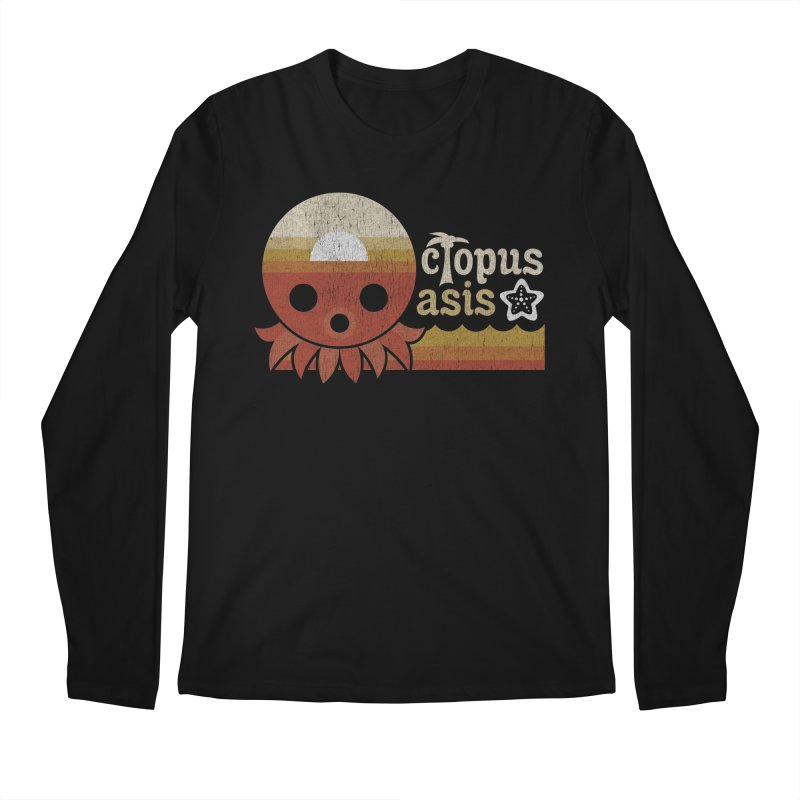 Octopus Oasis - Sunset Men's Longsleeve T-Shirt by Kappacino Creations