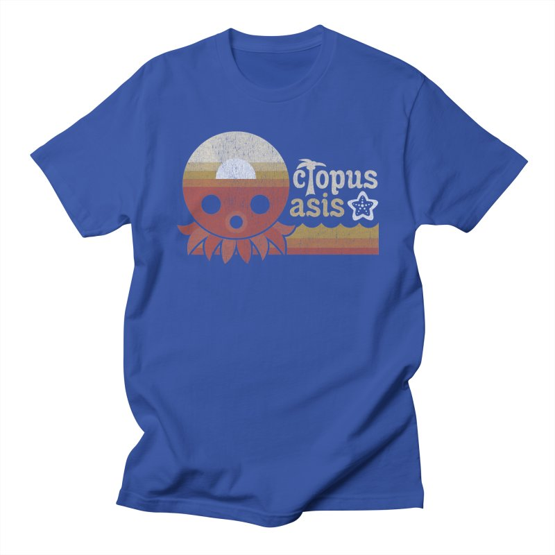 Octopus Oasis - Sunset Men's Regular T-Shirt by Kappacino Creations