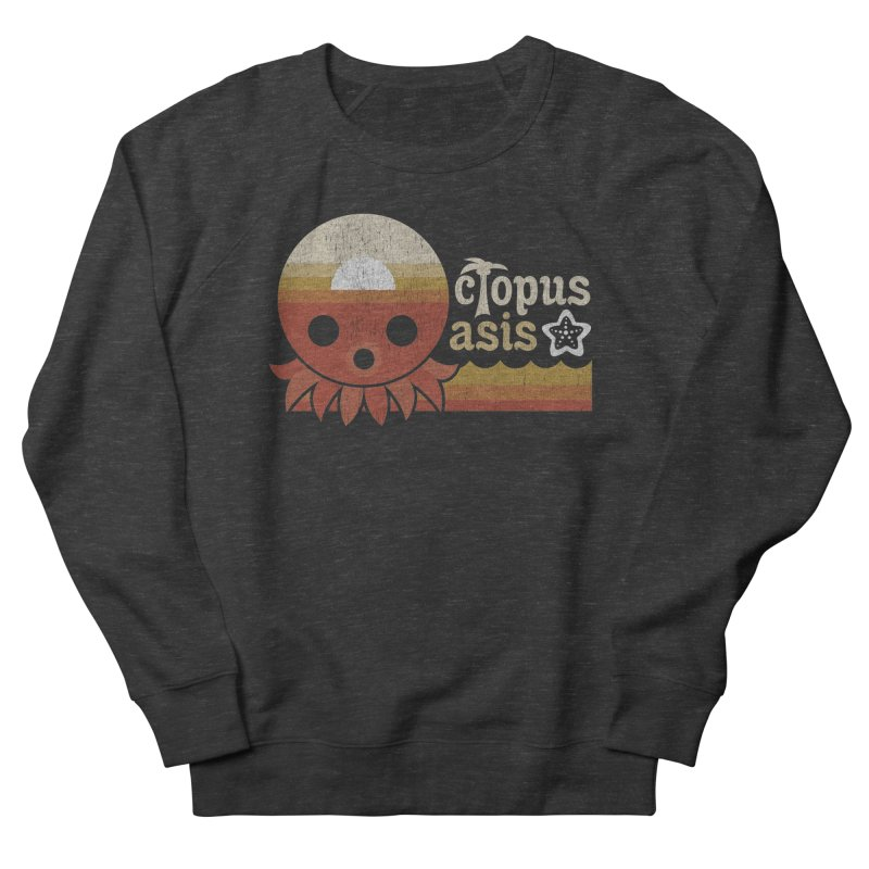Octopus Oasis - Sunset Men's French Terry Sweatshirt by Kappacino Creations