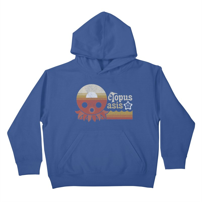 Octopus Oasis - Sunset Kids Pullover Hoody by Kappacino Creations