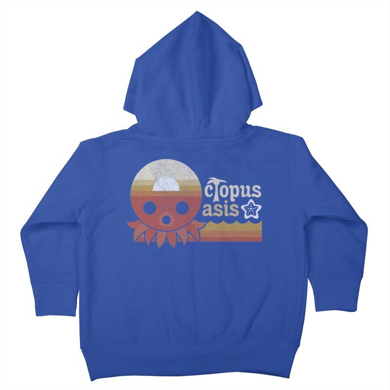 Octopus Oasis - Sunset Kids Toddler Zip-Up Hoody by Kappacino Creations