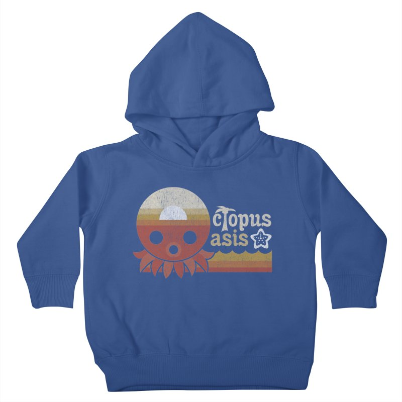 Octopus Oasis - Sunset Kids Toddler Pullover Hoody by Kappacino Creations