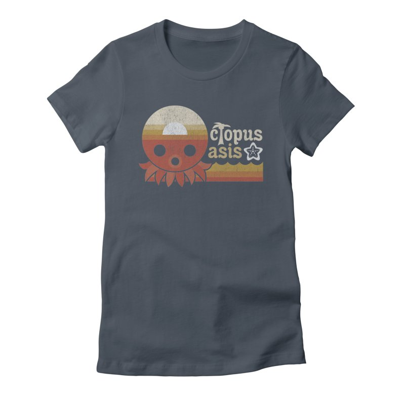 Octopus Oasis - Sunset Women's T-Shirt by Kappacino Creations