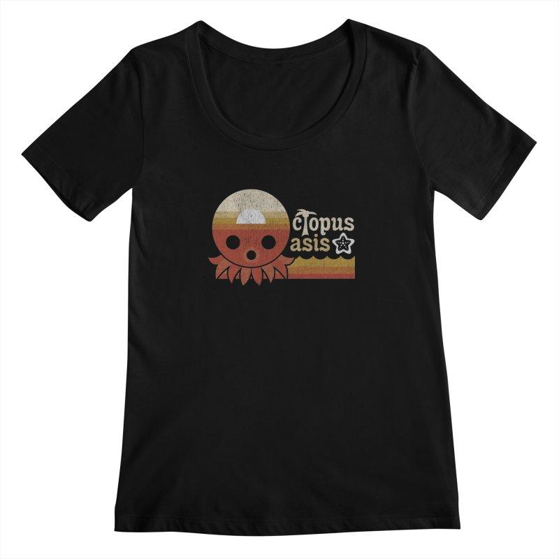 Octopus Oasis - Sunset Women's Regular Scoop Neck by Kappacino Creations