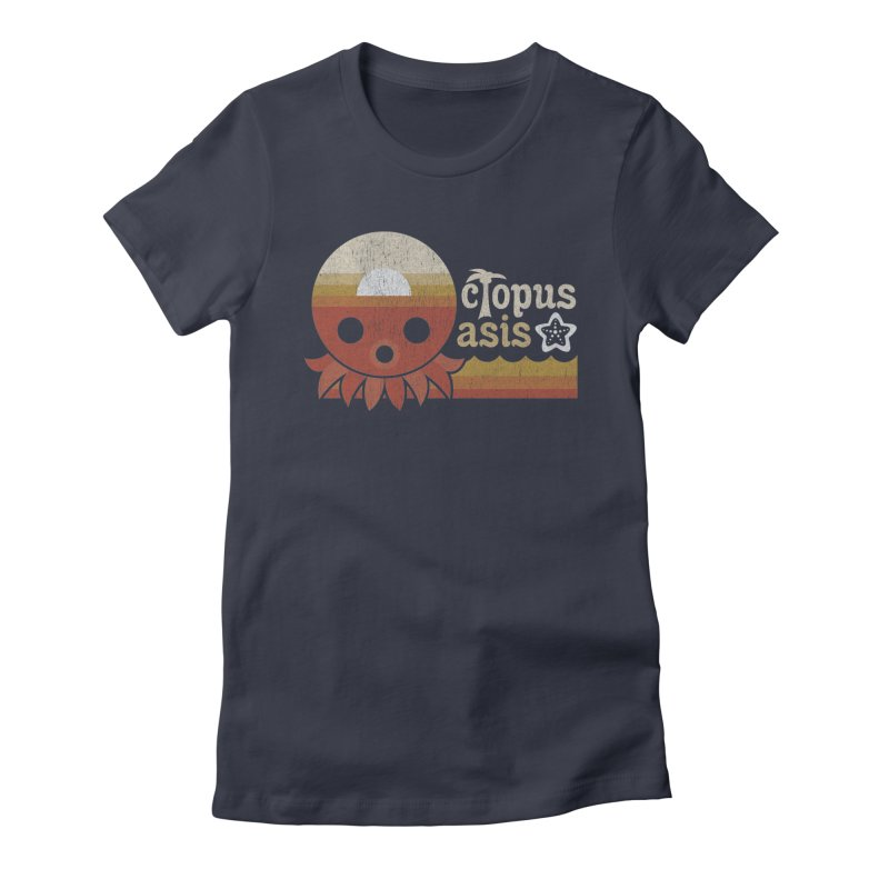 Octopus Oasis - Sunset Women's Fitted T-Shirt by Kappacino Creations