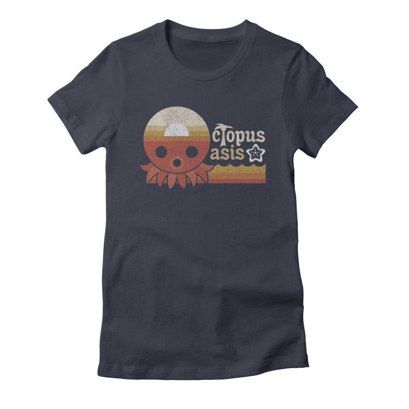 Octopus Oasis - Sunset Women's T-Shirt by Kappacino Creations