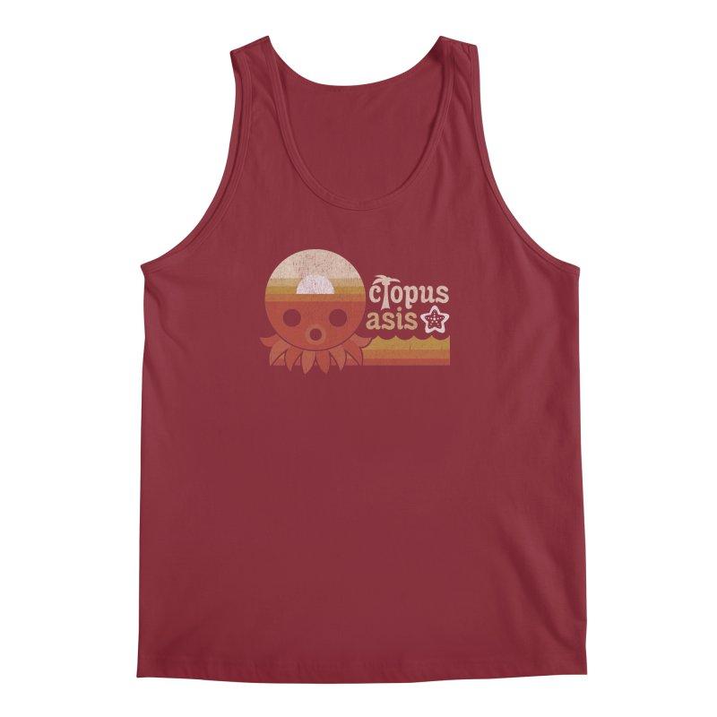 Octopus Oasis - Sunset Men's Regular Tank by Kappacino Creations