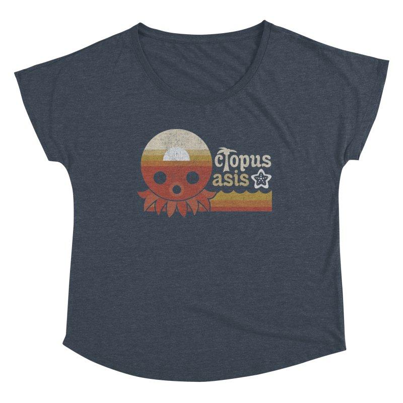 Octopus Oasis - Sunset Women's Scoop Neck by Kappacino Creations
