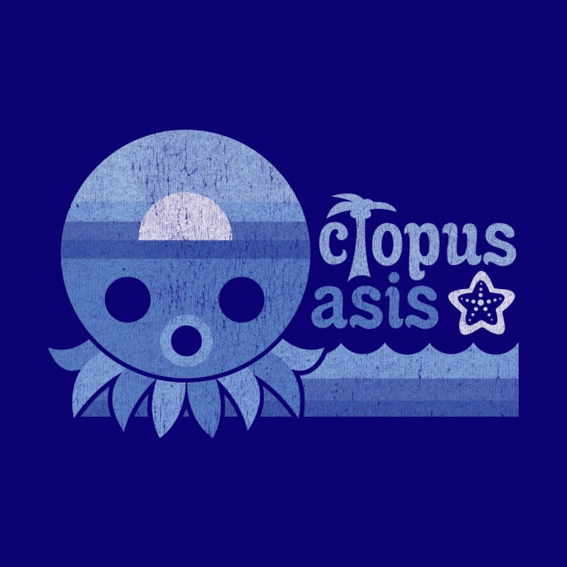 Octopus Oasis - Sea and Sky Men's T-Shirt by Kappacino Creations