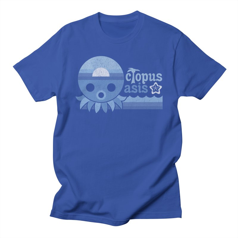 Octopus Oasis - Sea and Sky in Men's Regular T-Shirt Royal Blue by Kappacino Creations