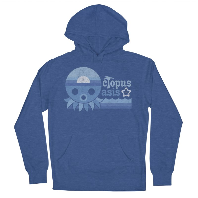 Octopus Oasis - Sea and Sky Women's French Terry Pullover Hoody by Kappacino Creations