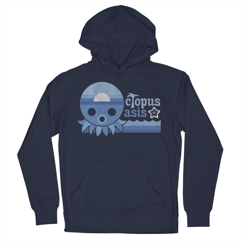 Octopus Oasis - Sea and Sky Women's Pullover Hoody by Kappacino Creations